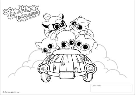 free coloring pages of yoohoo friends halloween