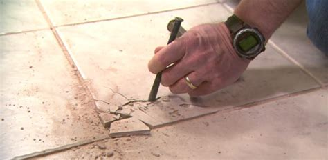 Floor Tile Repair How To Remove And Replace A Damaged Ceramic Tile Today S Homeowner