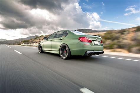 L 133 Wheels Hammered Coupe Matte Olive Green if anything a matte green bmw m5 is certainly different carscoops