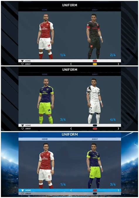 arsenal pes 2017 pes modif pes 2017 arsenal leaked kits 2017 2018 by ar11