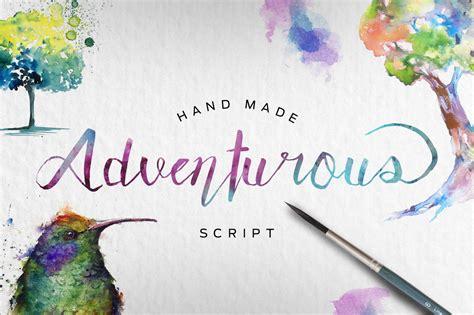 adventurous script font befontscom