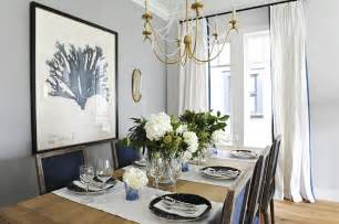 Dining Room With Navy Curtains Navy Blue Dining Chairs Transitional Dining Room