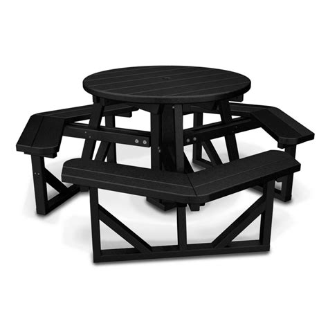 polywood park 36 quot round picnic table at diy home center