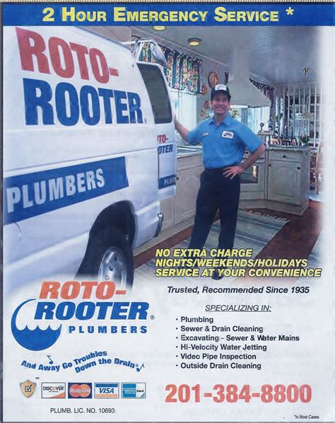 Yellow Pages Plumbing by Roto Rooter Yellow Page Ads 2013 Plumber Totowa Nj Roto