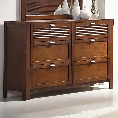 modern wood 6 drawer dresser murray contemporary brown wood 6 drawer dresser dressers