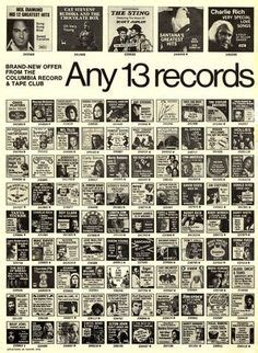 columbia house record club columbia house record and tape club 1973
