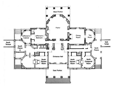 jefferson floor plan monticello virginia u s thomas jefferson architect