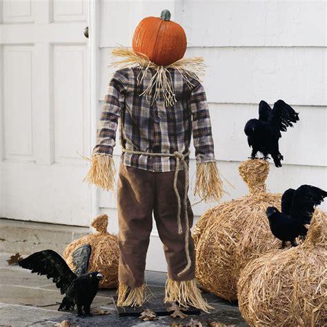 Garage Doors Design scarecrow pumpkin stand the green head