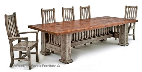 mission style dining room table reclaimed barnwood dining table mission style dining