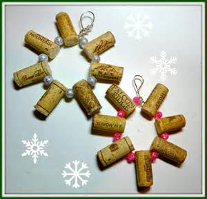 make it easy crafts wine cork snowflake ornament