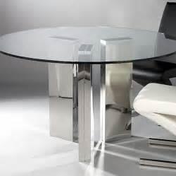 Modern round glass dining table decoist