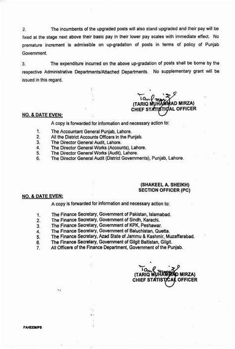 Promotion Notification Letter Govt Of Punjab Notification Of Time Scale Promotion 2017 Punjab Government Employees Galaxy World