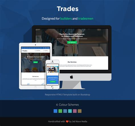 bootstrap themes builder responsive bootstrap template for builders and tradesmen