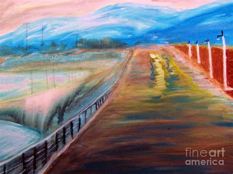 reno acrylic paint sparks pier near reno nevada painting by stanley morganstein