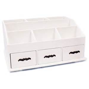 Tidy Drawers wooden desk tidy caddy with three drawers and 7