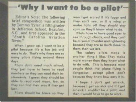 why do i want to be a essay sle pilot quotes quotesgram