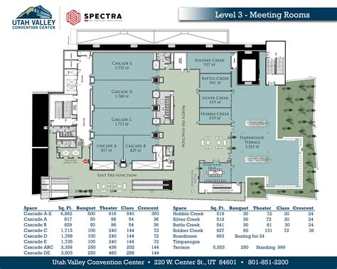convention center floor plan view our floor plans utah valley convention center