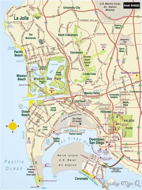 maps san diego san diego map map travel holidaymapq