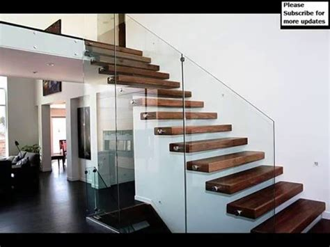 Home Design Kerala 2016 by Thrissur Modern Staircase Glass Railing Designs Staircase