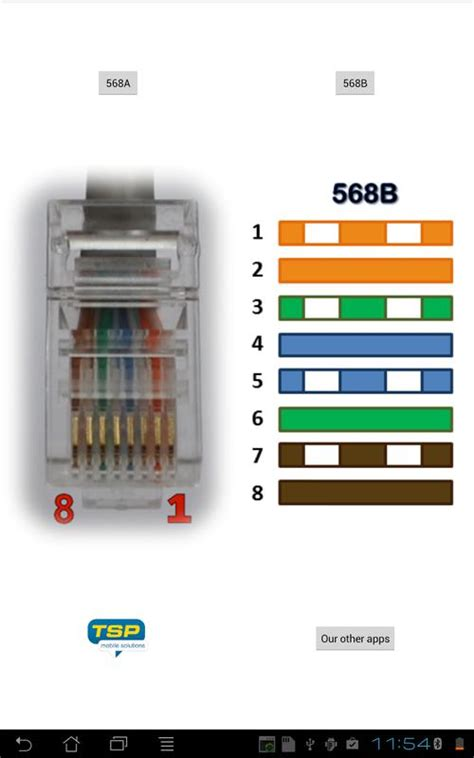 rj45 wiring connector pinout and colors for