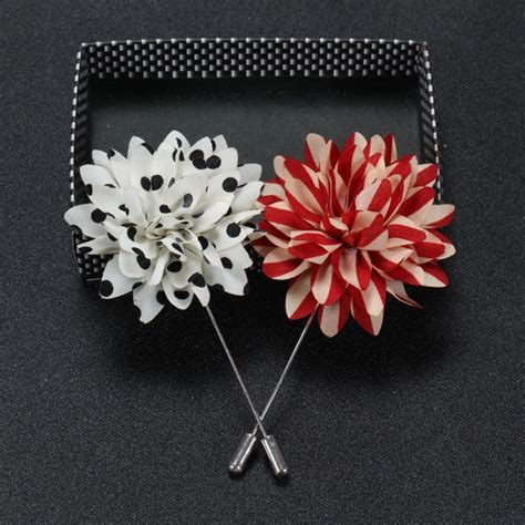 Brooch Handmade mens lapel pins flower polka dot handmade boutonniere stick brooch pin suit ebay