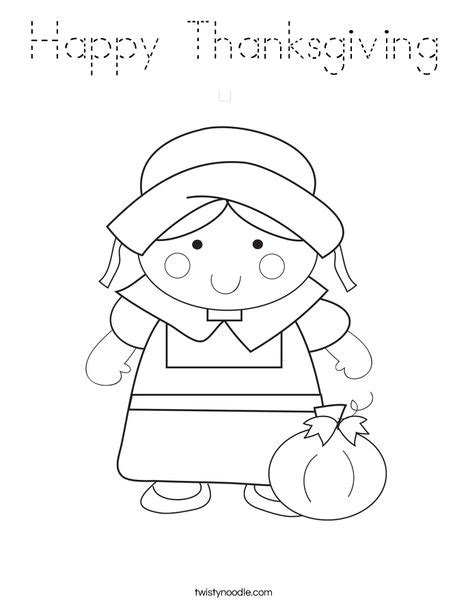 happy thanksgiving coloring page tracing twisty noodle