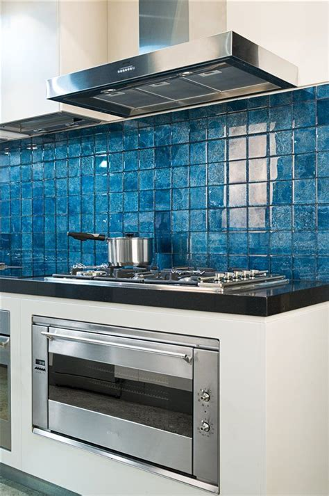 blue glass kitchen backsplash blue glass tile backsplash maniscalco home decor