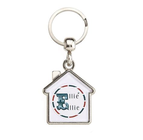 map double sided personalised keyring house by ellie ellie