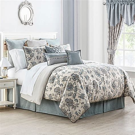waterford bedding waterford 174 linens valerie reversible comforter set bed bath beyond