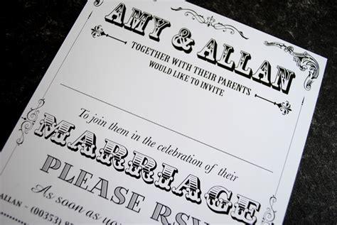 vintage wedding invitations belfast vintage poster style wedding invitations marty mccolgan