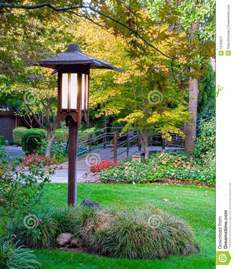 Garden Post L Post Stock Image Image 19763071