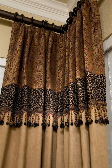 animal print window curtains custom drapery just a touch of leopard window