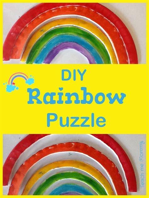 rainbow puzzle diy rainbow puzzle