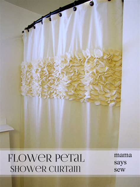 how to make a shower curtain 15 diy shower curtain projects anyone can make