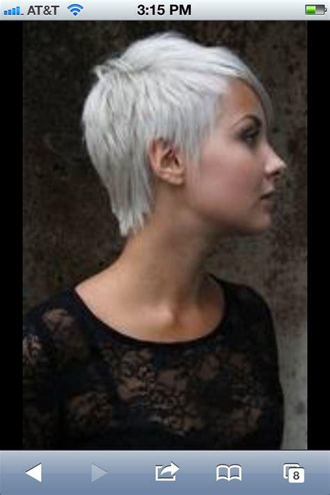 grey hair pixy cut grey hair pixie cut love loveee