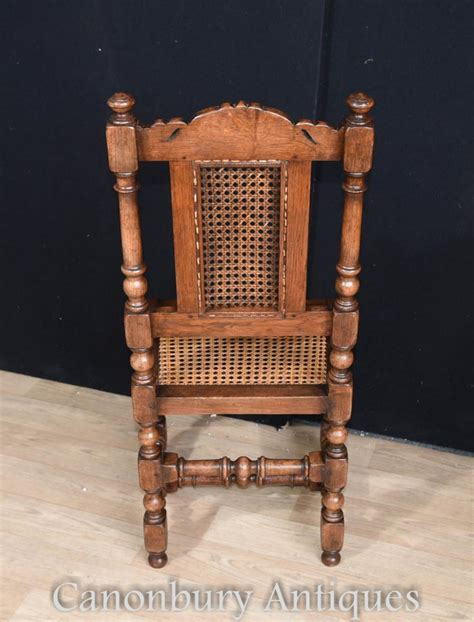 Set 8 French Oak Dining Chairs Hunting Style Farmhouse Farmhouse Style Dining Chairs
