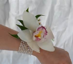 orchid wrist corsage single cymbidium orchid corsage danielson flowers