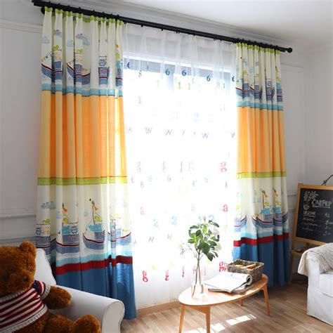 colorful curtains for kids colorful animal pattered nautical curtains for kids room
