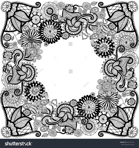 doodle tribal ethnic floral zentangle doodle background pattern in
