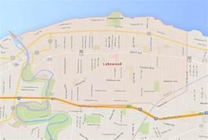Map Of Lakewood Ohio by Lakewood Ohio Map