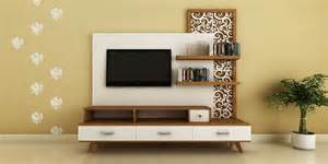 Tv Units For Living Room Mumbai Modern Ethnic Tv Unit With Jaali Design By Intart