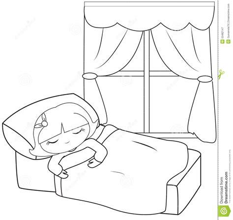 sleep color sleeping coloring page stock illustration