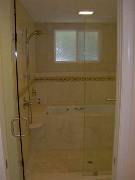Custom Shower Tub Combo custom shower and whirlpool tub combo yelp