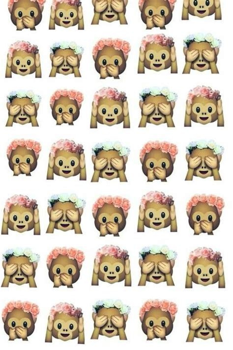 Wallpaper Emoji Monkey | 1000 images about i love these emoji background on