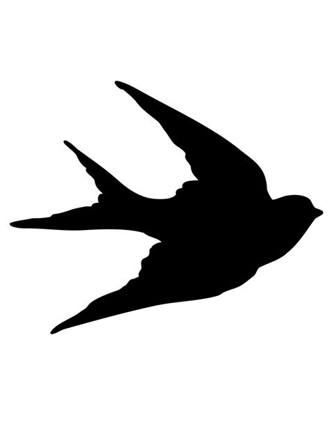 bird silhouette tattoo bird silhouette clipart best
