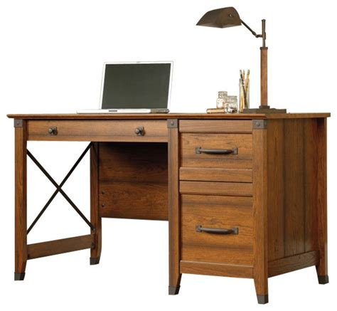 carson forge desk washington cherry sauder sauder carson forge desk in washington cherry farmhouse