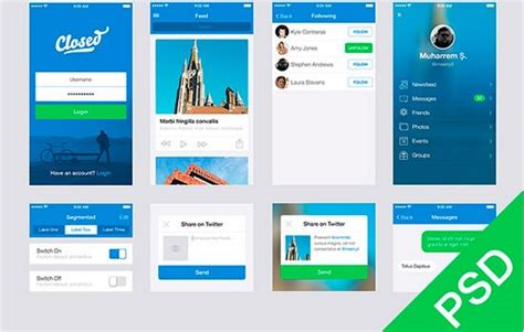app design ui inspiration html css psd and more 24 free design resources from