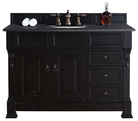 48 Black Bathroom Vanity Brookfield 48 Quot Antique Black Single Vanity W Drawers Traditional Bathroom Vanities And Sink