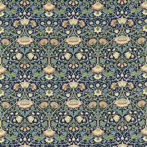 Lorient Decor Curtain Fabric Lodden Fabric Indigo Mineral 222521 William Morris