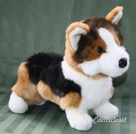 puppy plush douglas kirby tri color corgi 14 quot plush stuffed animal puppy cuddle new ebay